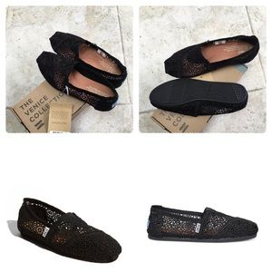 Shoes - New TOMS CLASSIC Black MOROCCO CROCHET Lace shoes